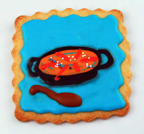 Basic sugar cookies, with Royal Icing.