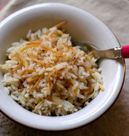 Rice pilaf, easy to make in 20 minutes, makes a perfect side dish for anything off the grill.