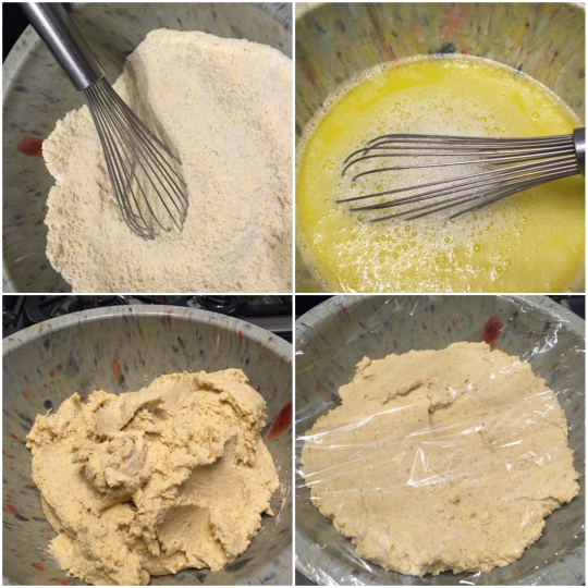 How to mix gluten-free pizza dough.