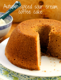Autumn-spiced sour cream coffee cake: make ahead and freeze.