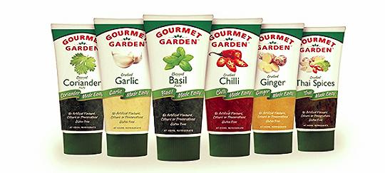 Gourmet Garden herbs in a tube.