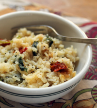 Spinach-kale-risotto-fork