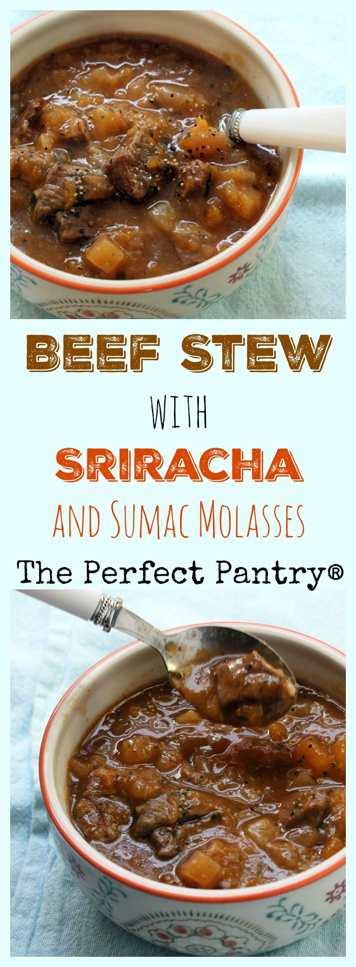 Beef stew with something special: sumac molasses (or lemon).