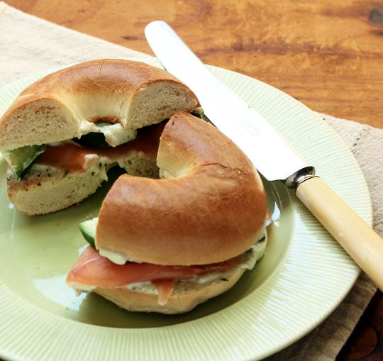 ... Perfect Pantry®: Smoked salmon bagel with wasabi herb cream cheese