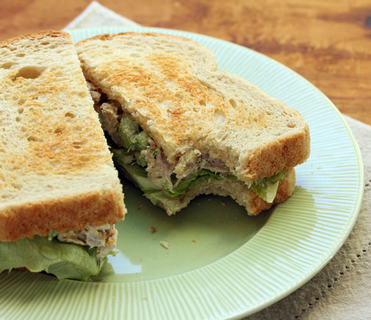 What's better than a tuna sandwich on toast? This tuna sandwich, for grown-ups. [ThePerfectPantry.com]