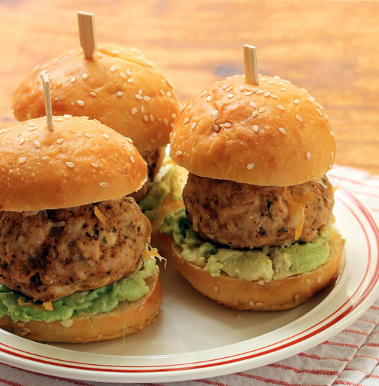 Tex-Mex turkey meatball sliders are sure to be a hit at your next party! [ThePerfectPantry.com]