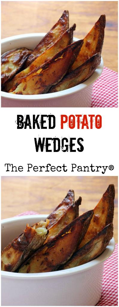 Baked potato wedges: crispy, creamy, buttery, salty. #vegetarian #glutenfree