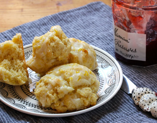 You'll love these lemony lemon scones in the morning, or with afternoon tea.