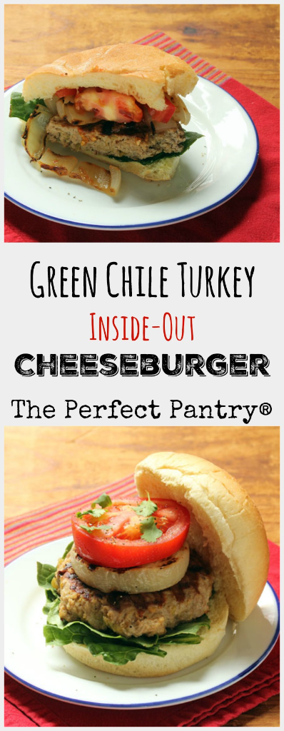 Mix up your burger repertoire with this green chile turkey inside-out cheeseburger!