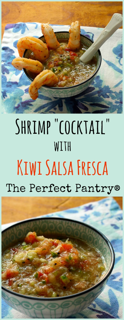 Try this zesty, fruity salsa fresca with shrimp at your next party!