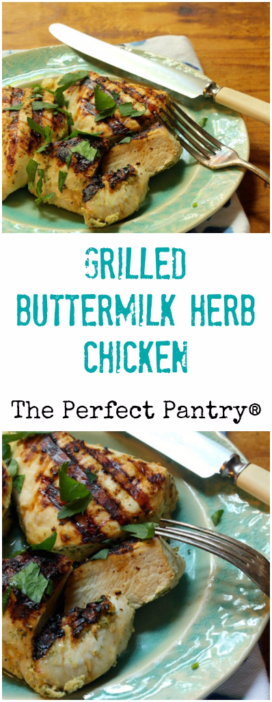 A quick buttermilk marinade gives this grilled chicken tenderness and tang!
