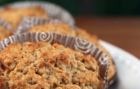 We love to bake these granola muffins in a muffin-top pan.