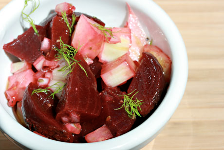 Beets and fennel make a wonderful combination. Use farm-fresh in summer, and find these vegetables in the grocery store during the rest of the year.