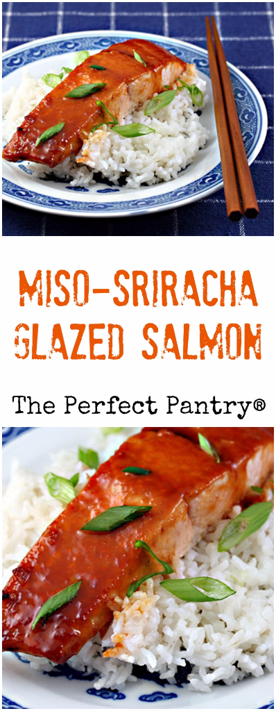 Miso-Sriracha glazed salmon is lick-the-plate good!