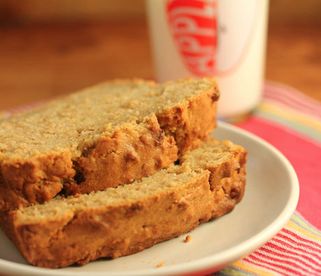 You're going to want to keep one of these apple spice breads in the freezer at all times: it's that good.