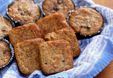 Costa Rican banana nut muffins (or you can leave out the nuts and add chocolate chips).
