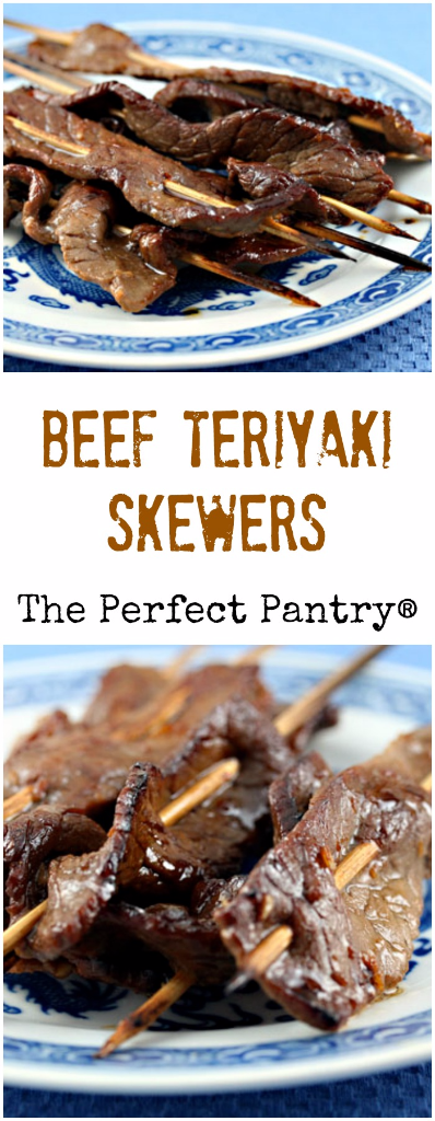Beef teriyaki skewers are always popular at parties.