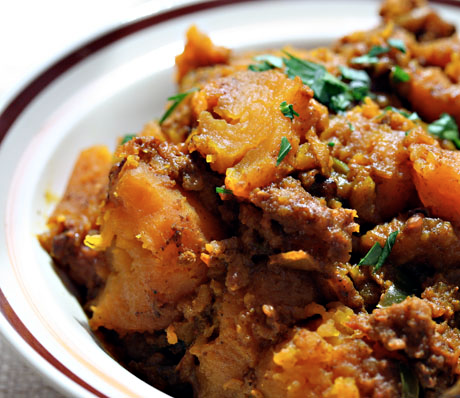 Slow cooker Indian spiced butternut squash.