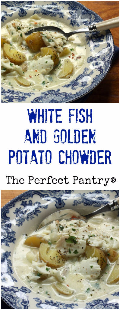 White fish and golden potato chowder: there's nothing more comforting on a chilly winter's day.