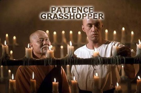 patience, grasshopper (kung fu)