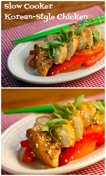 Korean-style chicken, via Hawaii, and made in the slow cooker!
