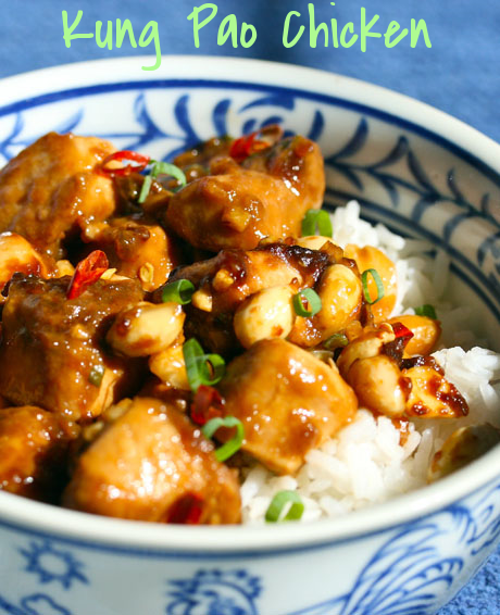 Kung pao chicken, a restaurant take-out favorite that's easy to make at home.