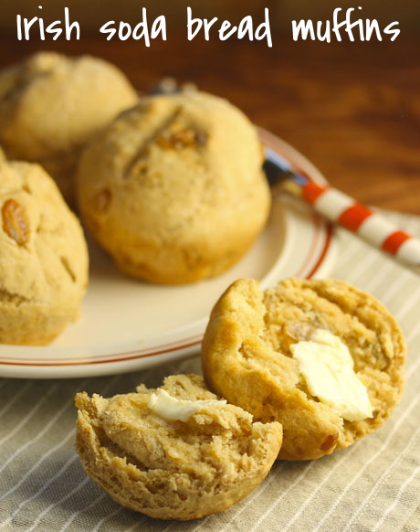 Irish soda bread muffins, a new spin on a classic. Perfect for Thanksgiving.