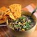 Turkey soup with black beans, corn, and green chiles {gluten-free}
