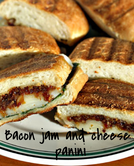 Bacon jam and cheese panini: make the jam in the slow cooker!