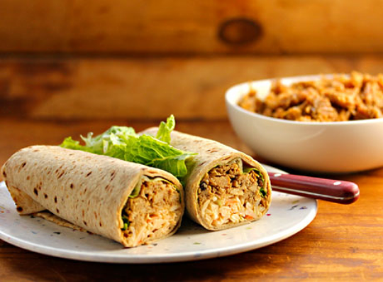 Slow cooker coffee-chipotle chicken roll-ups, from The Perfect Pantry