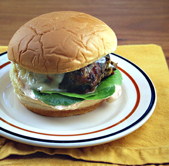 Green chile cheeseburger, from The Perfect Pantry.