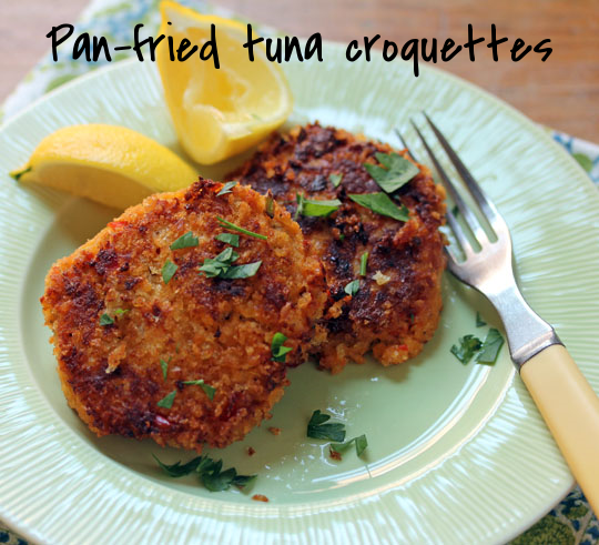 Crispy tuna croquettes, for an appetizer or lunch.