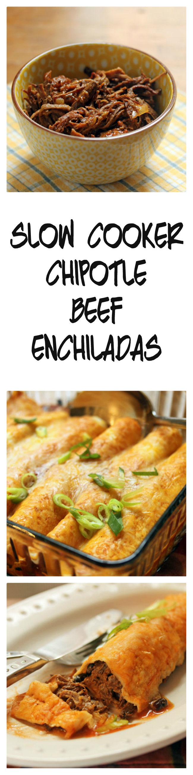 Make the beef ahead in your slow cooker, and the enchiladas come together in less than 30 minutes! Recipe from The Perfect Pantry.