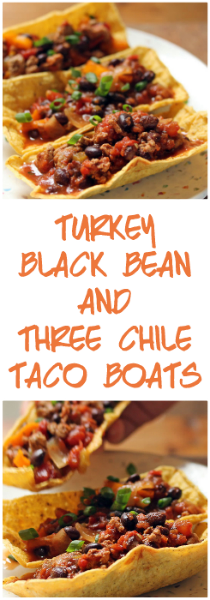 Look for these gluten-free taco boats and fill them with turkey, black beans, and a three-chile zing! From The Perfect Pantry.