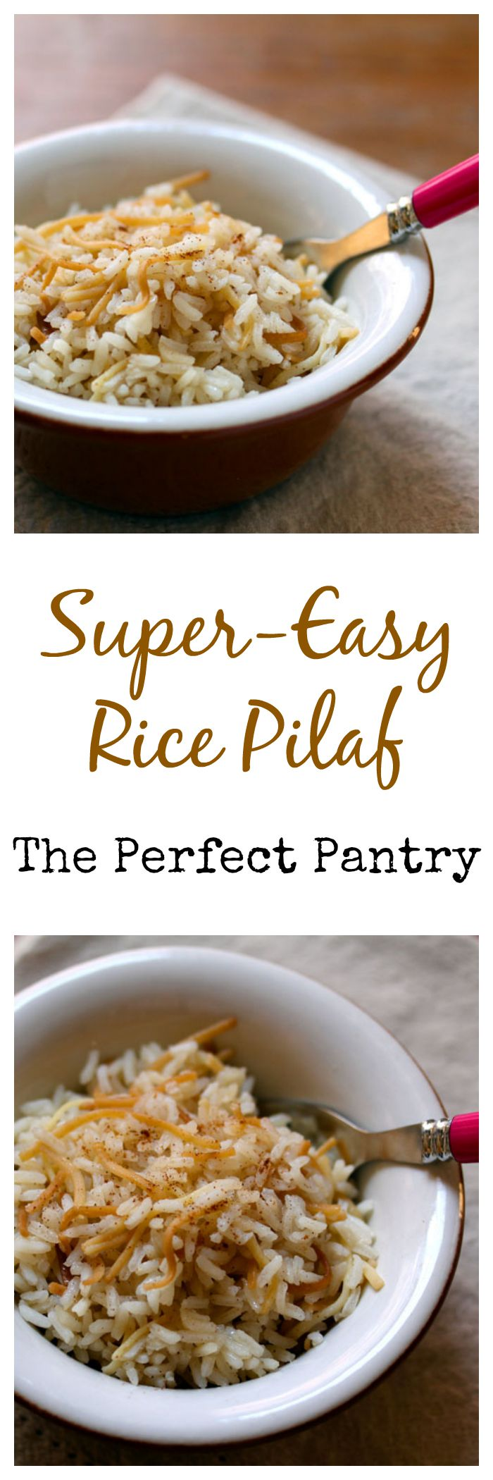 Rice pilaf easy enough to make every day, with ingredients from your pantry!