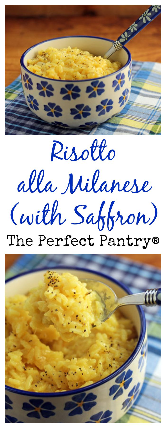 Gorgeous risotto gets its color from saffron; it's so easy to make in the pressure cooker. From The Perfect Pantry.