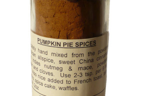 Pumpkin pie spices, from The Spice House.