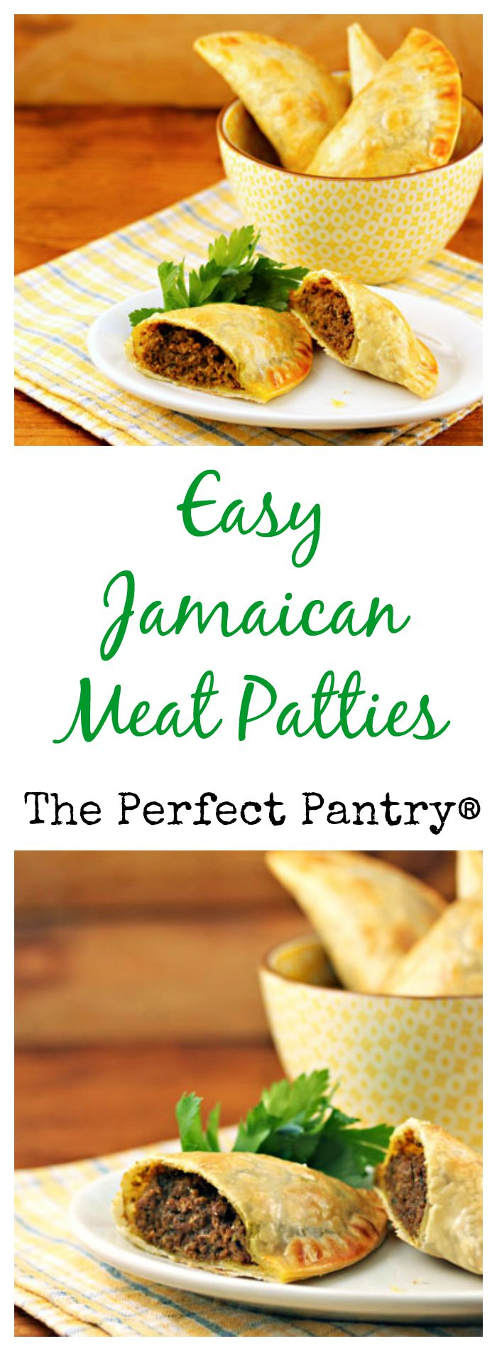 Super-easy Jamaican meat patties, from The Perfect Pantry.