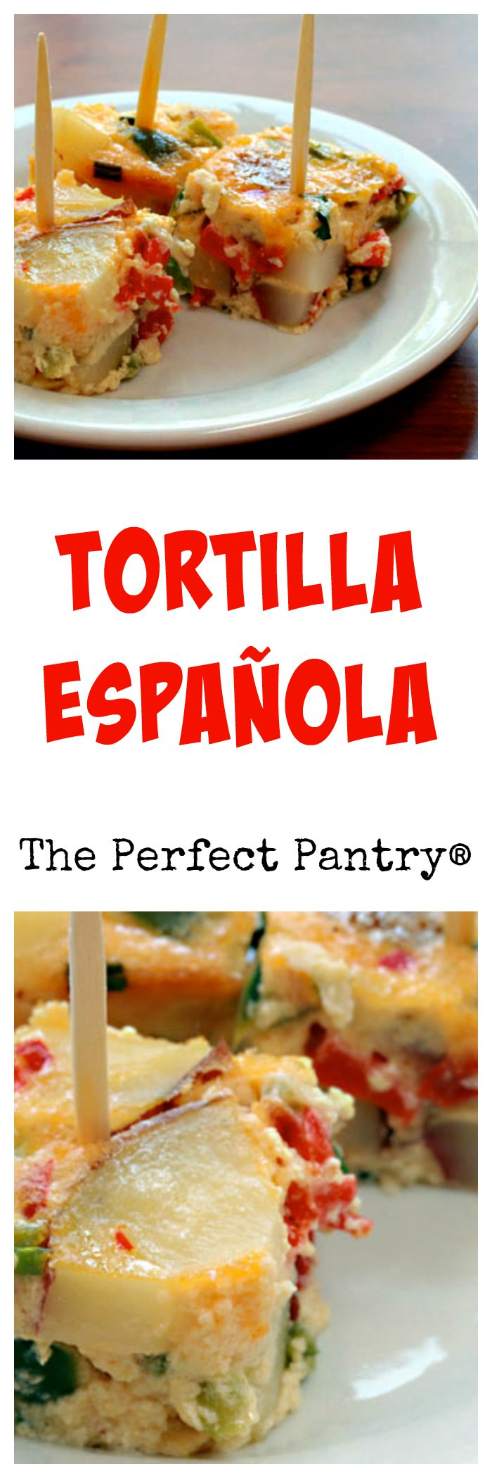 Tortilla española, a favorite tapas dish baked in the oven, from The Perfect Pantry.