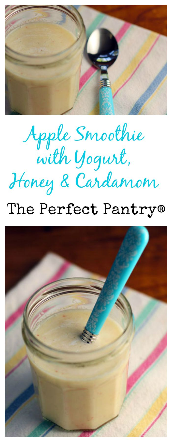 Apple smoothies with honey and cardamom taste just like Fall. Super-easy and nutritious.