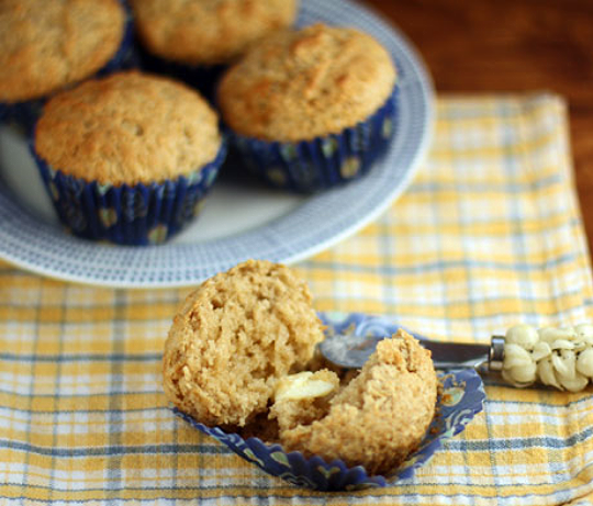 Serve these cinnamon buttermilk muffins hot from the oven.