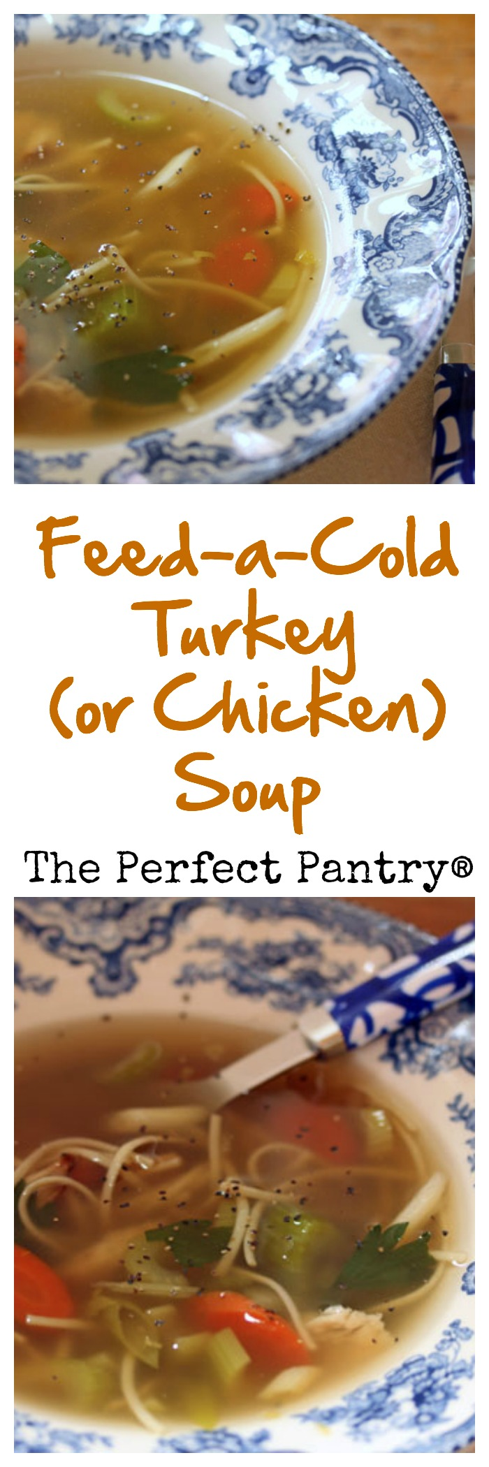 Banish any winter cold, with this magical turkey (or chicken) noodle soup!