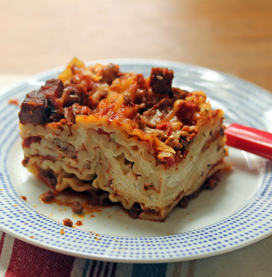 My family says this is the best lasagna EVER! I might have to agree.