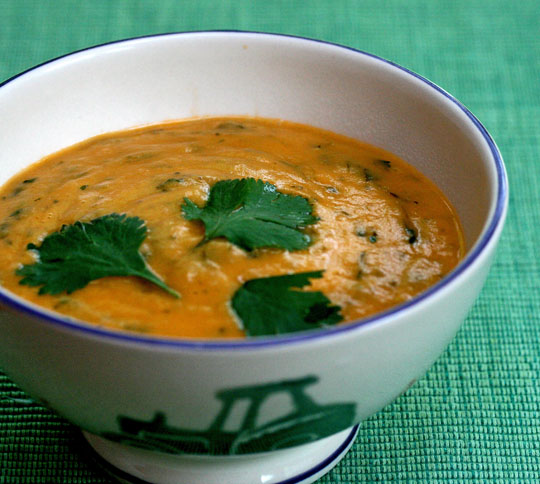 Bouktouf, an Algerian vegetable soup, will be a hit with cilantro lovers. #vegan ThePerfectPantry.com