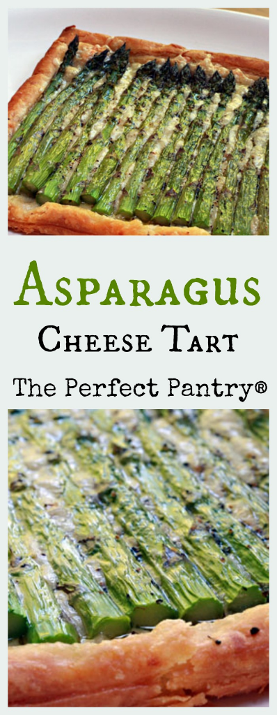 This asparagus and cheese tart looks fancy, but it's so easy to make.