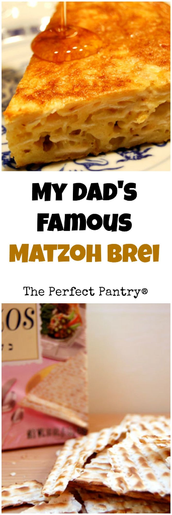 My dad made the best matzoh brei, and I tell you how to do it, too. [ThePerfectPantry.com]