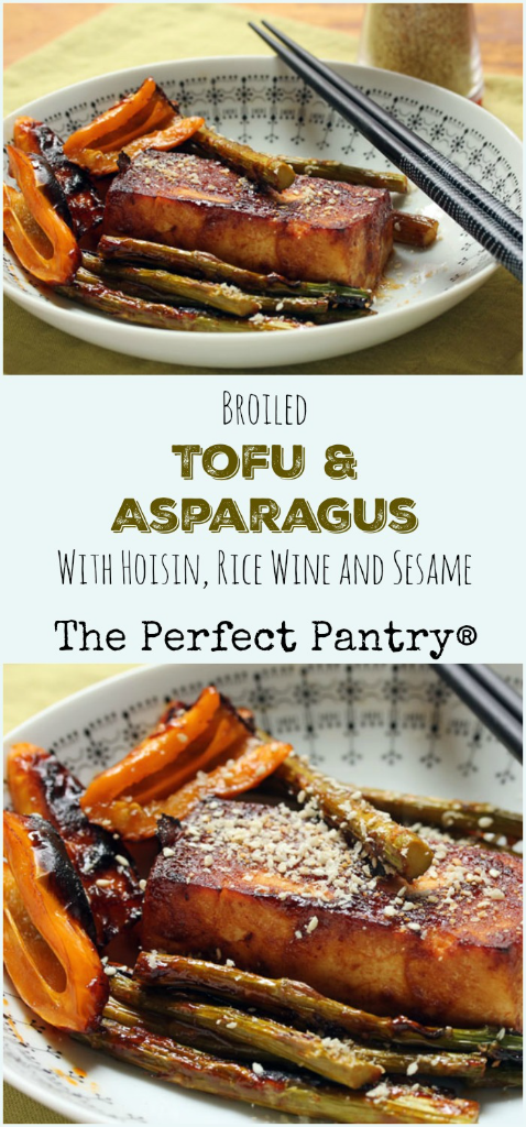 Broil or grill this amazing tofu and asparagus (or any vegetables you like). #vegan