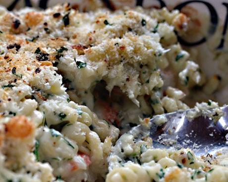 Shrimp, lemon, herb and feta mac and cheese, one of The Perfect Pantry's 10 favorite recipes.