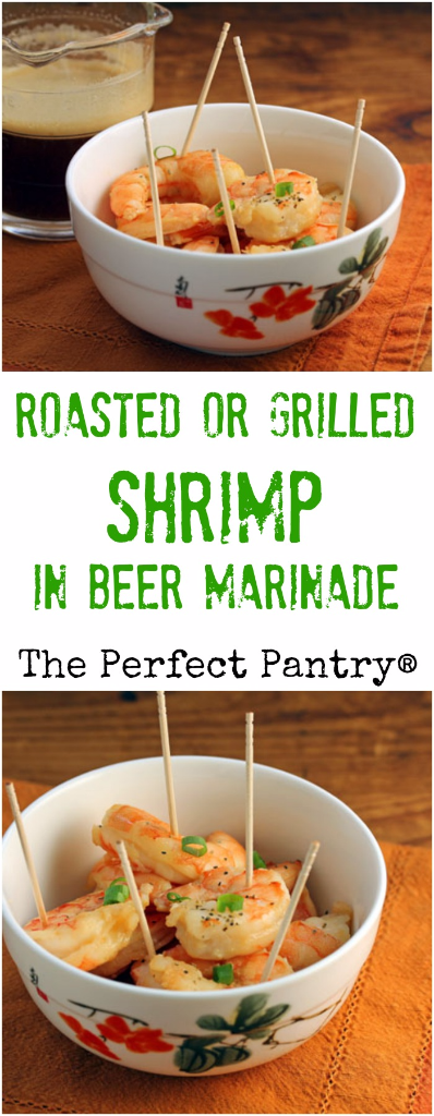 The ingredients are unusual, but the flavor of these roasted or grilled shrimp is irresistible!
