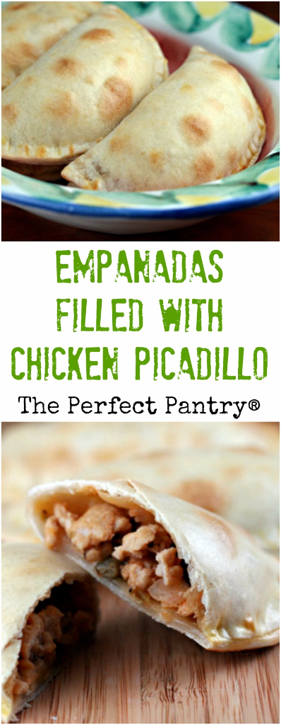 If you can find discos in your grocery store, it's easy to make these empanadas with a traditional chicken picadillo filling.